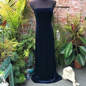 Jessica McClintock strapless velvet dress
